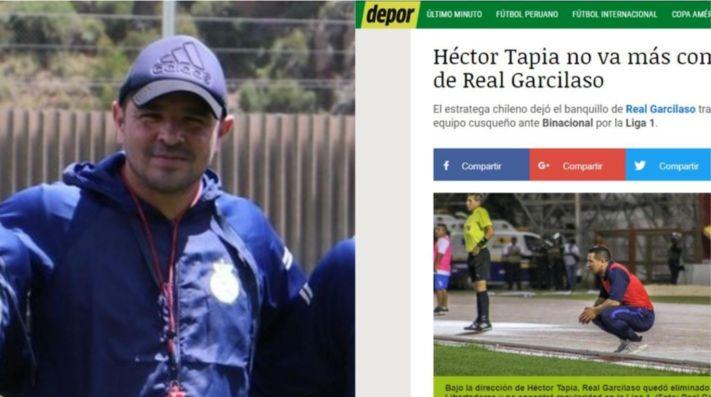 Real Garcilaso anuncia que Héctor Tapia deja de ser su entrenador