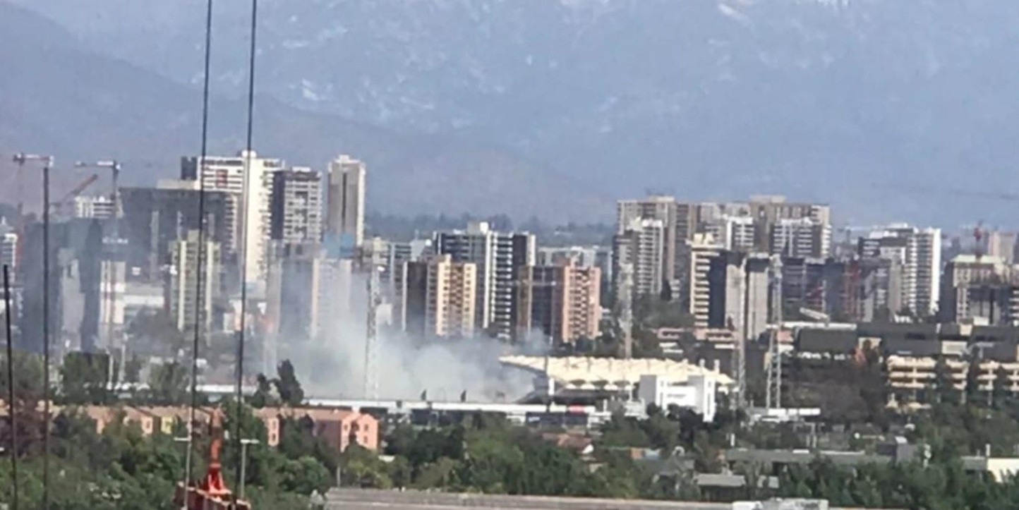 Estadio Monumental - Incendio | Foto: Twitter Lalo Emergencias @CD3EHH