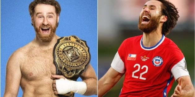 Chile: Sami Zayn responde en Twitter por su parecido a Ben Brereton.