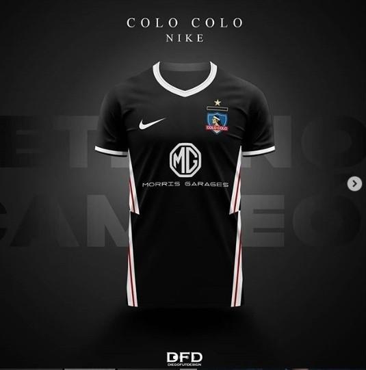 Goma de dinero Sobrio agitación  Camiseta de Colo Colo: Diseñador la rompe con las visitas negras de Nike,  Puma, Adidas y Cac1ke   Dale Albo